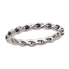 Simply Stacks™ Sterling Silver Birthstone Twisted Stack Ring