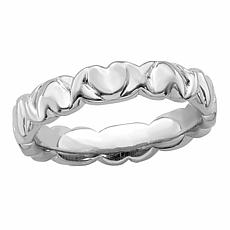 Simply Stacks™ Sterling Silver Stackable Heart Band Ring