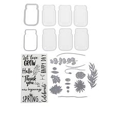Sizzix® Floral Dies, Stamps and Shaker Domes Jar Set