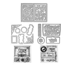Sizzix® Mini Holiday Cardmaking Stamp and Die Set