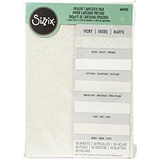 Sizzix Surfacez Opulent Cardstock 8 X 11.5 50-pack -Ivory