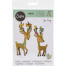 Sizzix Thinlits Dies By Jen Long 10-pack - Christmas Deer