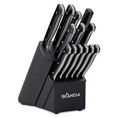 Skandia Aldis 14-Piece Full Tang Knife Block Set
