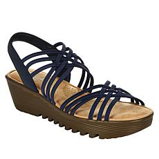 Skechers Petite Parallel Crossed Wires Wedge Sandal