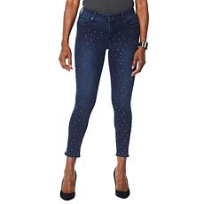 Skinnygirl All Over Stud Skinny Ankle Jean