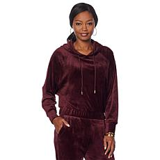 Skinnygirl Angela Velour Hooded Sweatshirt