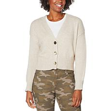 Skinnygirl Camden Button-Front Cropped Cardigan