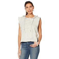 Skinnygirl French Terry Sleeveless Hoodie