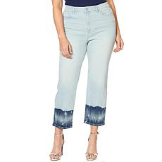 Skinnygirl High-Rise Straight Cropped Jean - Albany