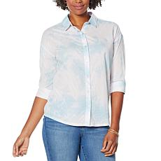 Skinnygirl Ride the Wave Button-Down Hi-Low Shirt