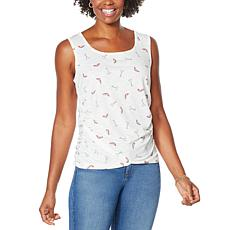 Skinnygirl Side Ruched Knit Tank