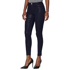 Skinnygirl The High Rise Coated Skinny Jean