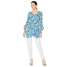 Slinky® Brand 2pc Printed Empire Tunic & Skinny Pant