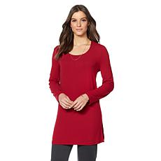 Slinky® Brand 2pk Long Brushed Tunic with Slits