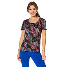 Slinky® Brand 2pk Short-Sleeve Tops in Print and Solid
