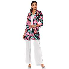 Slinky® Brand 3/4-Sleeve Printed Textured Duster