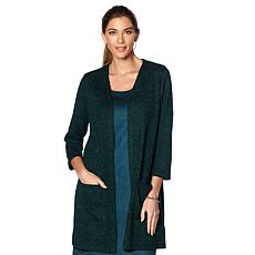 Slinky® Brand Boucle Duster with Pockets