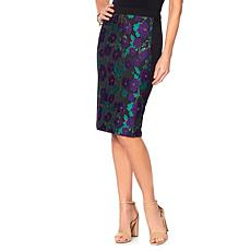 Slinky® Brand Brocade Pencil Skirt