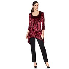 Slinky® Brand Crushed Velvet Sharkbite Long Tunic