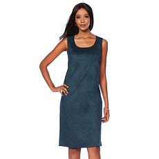 Slinky® Brand Faux Suede Tank Dress