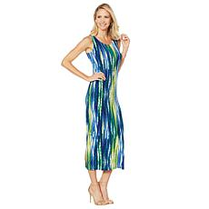 Slinky® Brand Sleeveless Printed Tank Maxi Dress