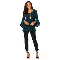 Slinky® Brand Sparkle Knit Tunic and Pant Set