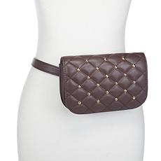 Slinky Brand Studded Faux Leather Belt Bag