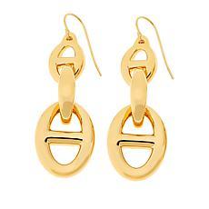 Soave Oro 14K Gold Electroform Mariner-Link Drop Earrings