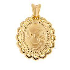 Soave Oro 14K Gold Electroform Oval Cameo Pendant