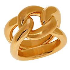 Soave Oro 14K Gold Electroform Polished and Satin Knot Ring