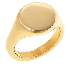 Soave Oro 14K Gold Electroform Polished Graduated Ring