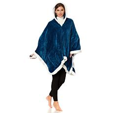 Soft & Cozy Heated Hooded Angel Wrap w/Sherpa Trim