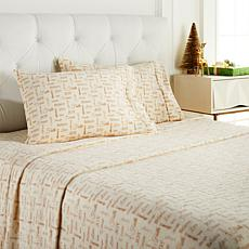 Soft & Cozy Holiday 4-piece Plush Sheet Set