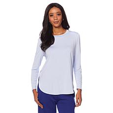 Soft & Cozy Loungewear Cool Luxe Knit Hi-Low Tee