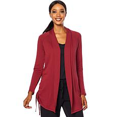Soft & Cozy Loungewear French Terry Ruched Cardigan