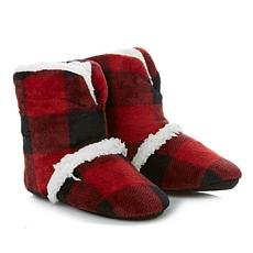 Soft & Cozy Loungewear Plush Bootie Slipper with Faux Sherpa Trim