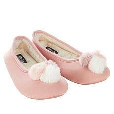 Soft & Cozy Loungewear Pom Pom Ballerina Slipper