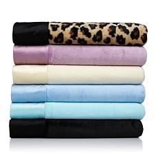 Soft & Cozy Plush Sheet Set w/Faux Mink Trim