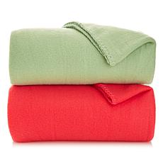 Soft & Cozy Set of 2 Soft Fleece Throws