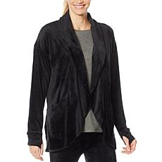 Soft & Cozy Velour Wrap with Thumbhole Cuffs