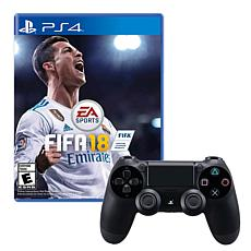 """Sony PlayStation 4 Dualshock 4 Wireless Controller with """"Fifa 18"""" Game"""