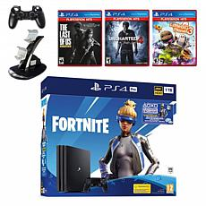 Sony PlayStation 4 Pro 1TB Fortnite Neo Versa Console with Games