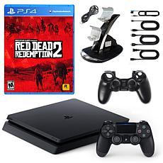 "Sony PlayStation 4 Slim 1TB Console with ""Red Dead Redemption 2"""