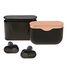 Sony Truly Wireless Noise Cancelling Earbuds w/Leather Case & Voucher