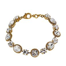 "Sorrelli Jewelry Clear Crystal 7"" Oval Station Bracelet"