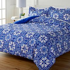 South Street Loft Greek Tile 3-piece Printed Comforter Set