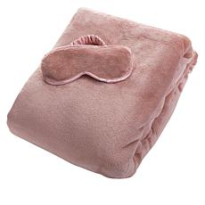 South Street Loft Plush Throw & Eye Mask Gift Set