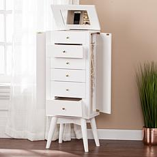 Southern Enterprises Agnew Jewelry Armoire - White
