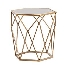 Southern Enterprises Albreicht Geometric Accent Table - Gold
