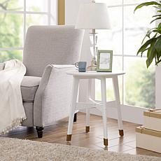 Southern Enterprises Carabelle Round End Table - White